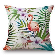 online get cheap pillow cover bird floral flamingo aliexpress com
