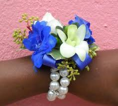 Blue Orchid Corsage Corsages And Boutonnieres