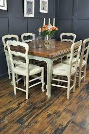 solid oak dining table and 6 chairs french oak dining table shabby chic french oak dining table with 6
