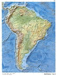 World Map Of South America by Detailed Relief Map Of South America South America Mapsland