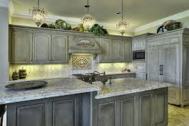 grey kitchen cabinets with black countertops glass door stainless