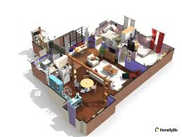 Floor Plans Of Tv Homes by Can You Guess These Famous Sitcom Homes From Their 3d Floorplans
