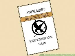 how to hold an indoors hunger games party 9 steps with pictures
