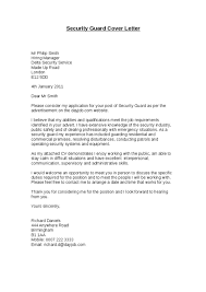 corporate security guard cover letter