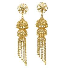gold jhumka earrings design with price designer gold jhumkas at rs 2500 gram gold jhumka gold jhumke