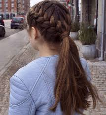 Cute Sporty Hairstyles Best 25 Braided Ponytail Hairstyles Ideas Only On Pinterest
