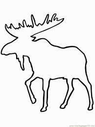 moose template attractive ideas moose outline images clip vector