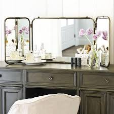 Vanity Table With Tri Fold Mirror Ivana Triple Dressing Table Mirror