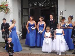 white wedding dress with royal blue sash tulle flower dress with color sash