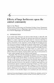 Sample Resume Objectives For A Career Change by Effects Of Large Herbivores Upon The Animal Community Springer