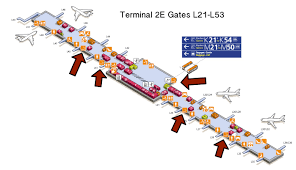 Boston Logan Airport Terminal Map by Charles De Gaulle Airport Paris Cdg Airport Smoking