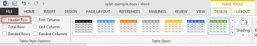 table tools design tab ms office and accessibility