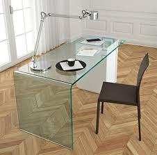Glass Office Desk Fiam Rialto L Desks Glass Office Contemporary Furniture From