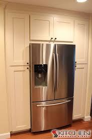 how to build a cabinet around a refrigerator pantry around refrigerator houzz