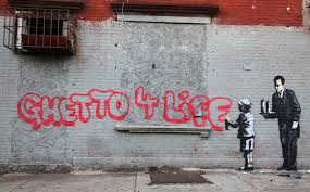 Banksy S Top 10 Most Creative And Controversial Nyc Works - banksy upsets bronx residents with ghetto 4 life graffiti the