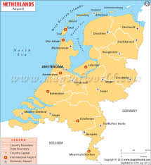 netherlands map images airports in netherlands netherlands airports map