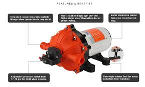 low volume water pump 51 series diaphragm water pumps seafresh marine an authorized