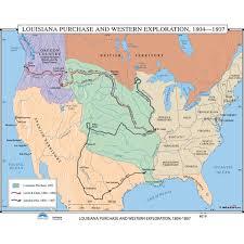 louisiana geographical map universal map u s history wall maps louisiana purchase