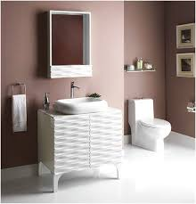 round mirror attached wall a color with a