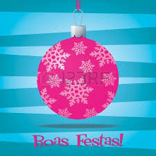 pink ribbon bauble inspired christmas card royalty free