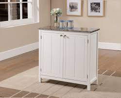 kitchen island with storage cabinets amazon com brand white with marble finish top kitchen