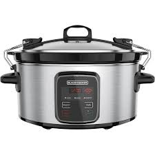 crockpot black friday sale black decker wifi enabled 6 quart slow cooker only at walmart