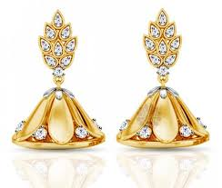 gold jhumka earrings design with price vogue crafts designs pvt ltd manufactures gold and diamond