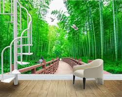 compare prices on forest road wallpaper online shopping buy low beibehang advanced personality wallpaper corridor quiet landscape painting fresh bamboo forest road background papel de parede