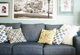 blue and gray sofa pillows throw pillows for grey sofa pillow cushion blanket