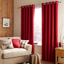 pictures of curtains featuring a deep red tone and a woven texture these eyelet curtains