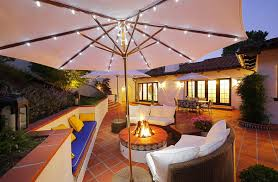 White Patio Lights by Dazzling Backyard Outdoor Patio With Umbrella Presenting All