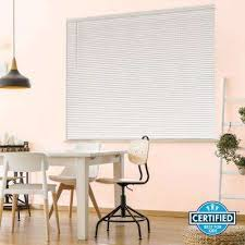 Room Darkening Vinyl Mini Blinds Cordless Window Treatments The Home Depot