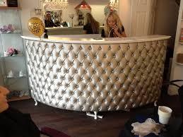 Upholstered Reception Desk Stunning Velvet Reception Desk 504 Best Images About Salon Ideas