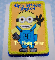minions birthday cake minions the flying cookie
