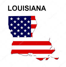 United States Map Clip Art by Usa State Map Louisiana U2014 Stock Photo Pdesign 1768776