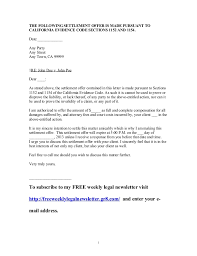 settlement offer letter crna cover letter