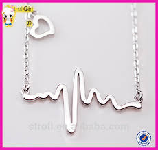 personalized sterling silver jewelry stock available cardiograph designs necklace sterling silver jewelry