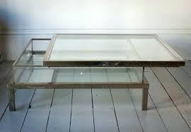 Glass Display Coffee Table Glass Top Display Coffee Table Capsuling Me