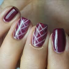 nail art tutorial elegant design burgundy fish tail with softly