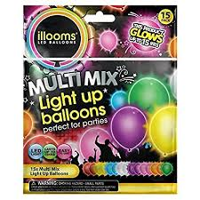 led light up balloons walmart amazon com led light up balloons pack of 15 mixed color party pack