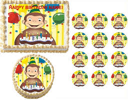 sonic the hedgehog cake topper curious george edible cake topper image curious george
