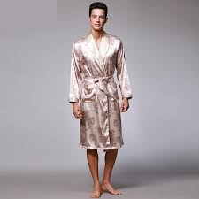 robe de chambre homme luxe hommes d été de paisley motif robes mâle de luxe imprimer soie