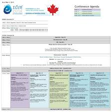 Creative Meeting Agenda Template by Programme Icoe Conference 2014