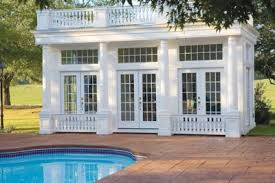 pool house with a classic colonial design http www