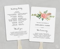 printable wedding program template fan wedding programs hd images new printable wedding program
