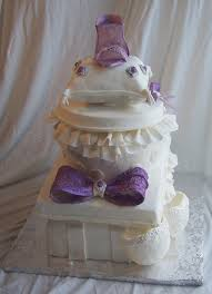 Kitchen Tea Cake Ideas Side View Of Metta U0027s Bridal Shower Cake Of Stacked Presents