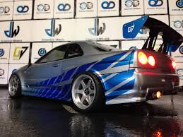 paul walker blue porsche tamiya 190mm nissan skyline r34 paul walker edition oak man designs