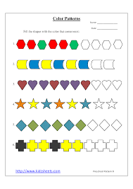 color patterns kidz worksheets preschool color patterns worksheet8