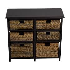 Chest Of Drawers With Wicker Drawers 41 Off Pier 1 Imports Pier 1 Imports Black Wicker Storage
