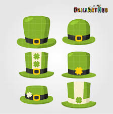 st patrick u0027s day hats clip art set daily art hub
